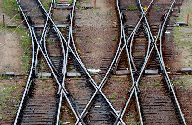Winding Railroad Tracks