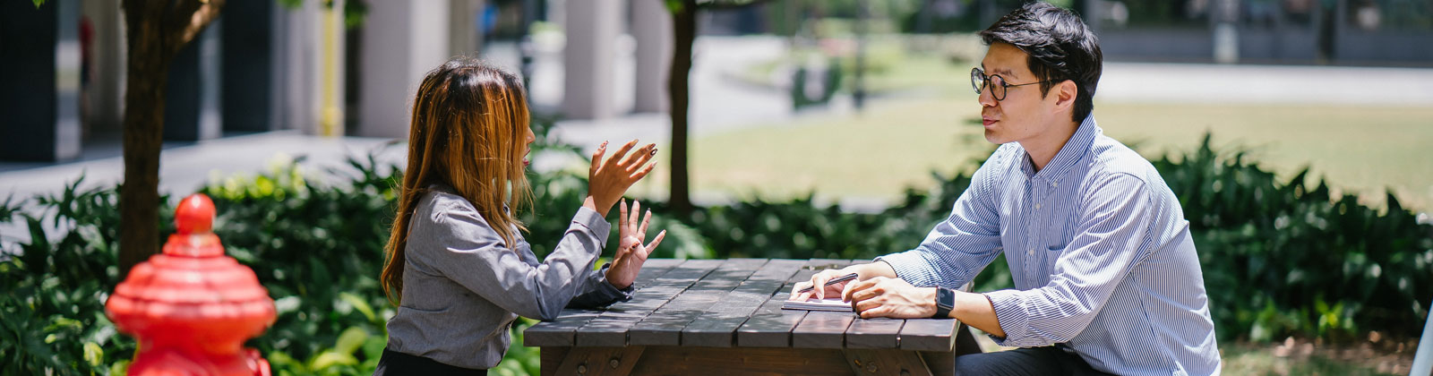 Outdoor conversation